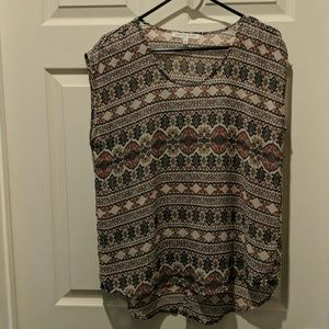 Pattered blouse